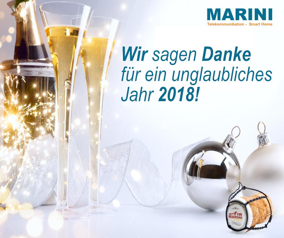 Marini sagt Danke für ein unglaubliches Jahr 2018