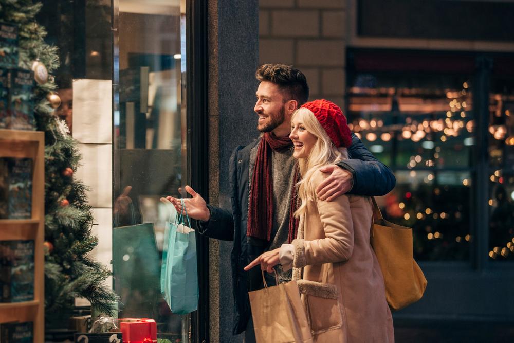Online einkaufen zu Weihnachten